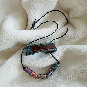 Fun Boho style necklace and bracelet